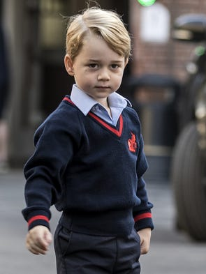 It's Prince George's first day of school! The young