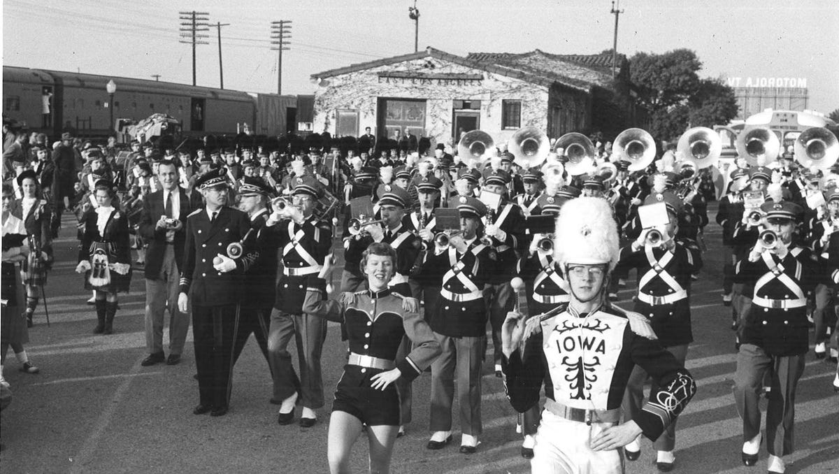 From the archives: Iowa Hawkeyes marching band through the years