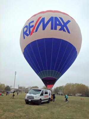 The red, white and blue RE/MAX hot air balloon made an appearance at Williamsburg Elementary this past week.