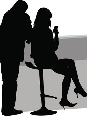 Couple on chair
