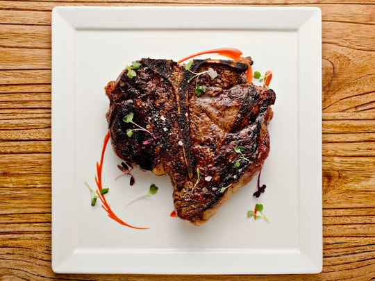 The 32-ounce butter-poached porterhouse steak from