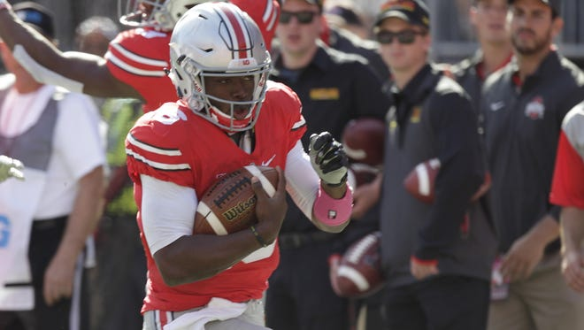Urban Meyer says he's leaning toward keeping J.T. Barrett and Cardale Jones sharing the quarterback position. Last week, OSU scored all six times in the red zone.