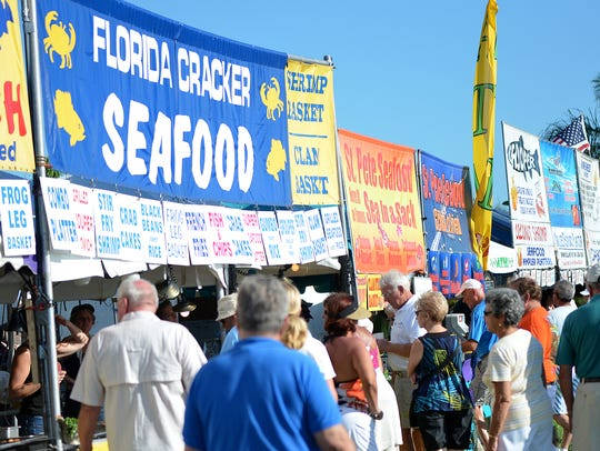 The Marco Island and Seafood Festival will bring a variety of food vendors — for the seafood-lover and land-lover — to Veteran's Community Park for three days this weekend on Marco Island.