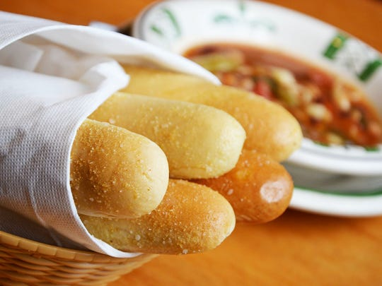 The signature breadsticks at Olive Garden.