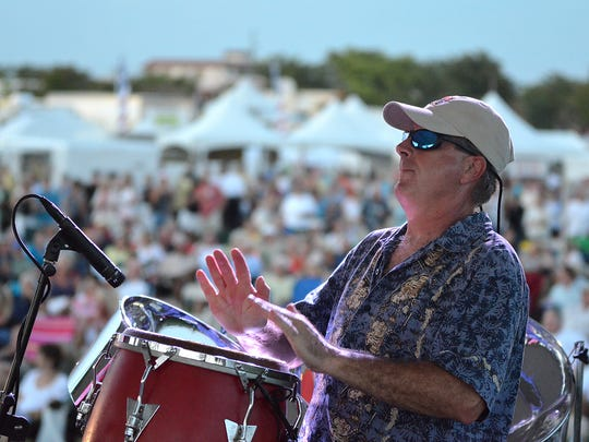 Jim Long and the Landsharks perform at the Marco Island Seafood Festival on March 24, 2012.