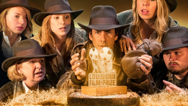 The 2015 Louisiana Film Prize director and staff replicate Indiana Jones movie poster.
