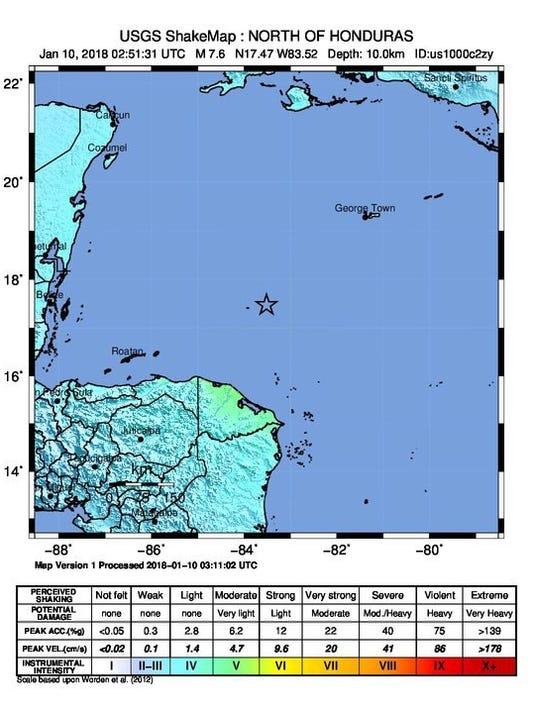 EPA HONDURAS EARTHQUAKE DIS EARTHQUAKE HND