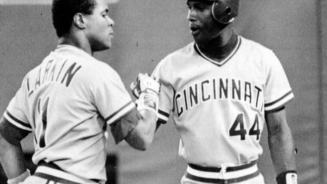 Shortstop Barry Larkin played great defense during the series with the Pirates, but Eric Davis stole the show when he ran from left to center field, retrieved the ball center fielder Billy Hatcher couldn't get, then wheeled and threw out Bobby Bonilla at third base.