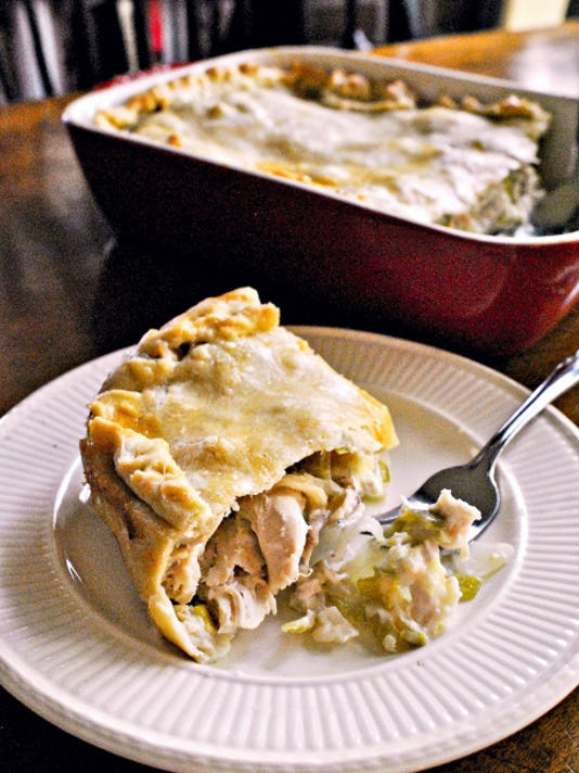 Chicken Pie With Leeks and Tarragon.