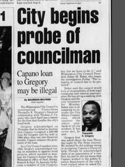 Theo Gregory has made headlines for years regarding ethical issues, including in this 1997 News Journal clip.