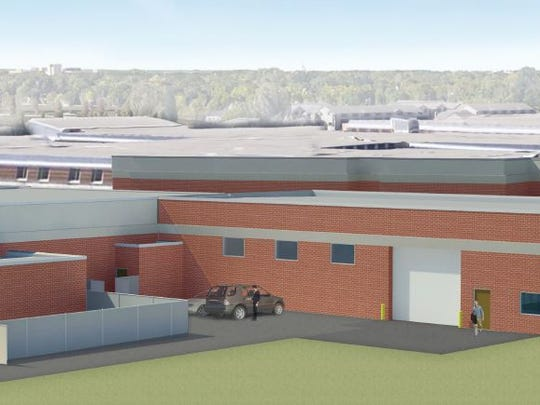 A rendering by Bray Architects shows the addition of a $1.2 million Career Construction Academy at Fond du Lac High School.