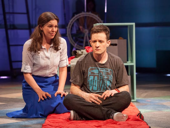 Amy Blackman, left, plays Judy, the mother of Christopher