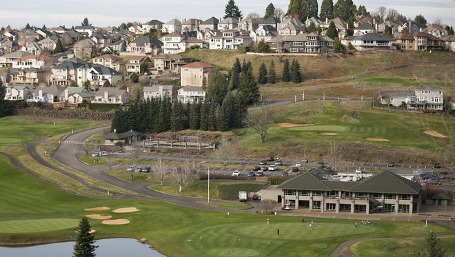 Creekside Golf Club is pictured among homes in the Creekside Estates neighborhood.