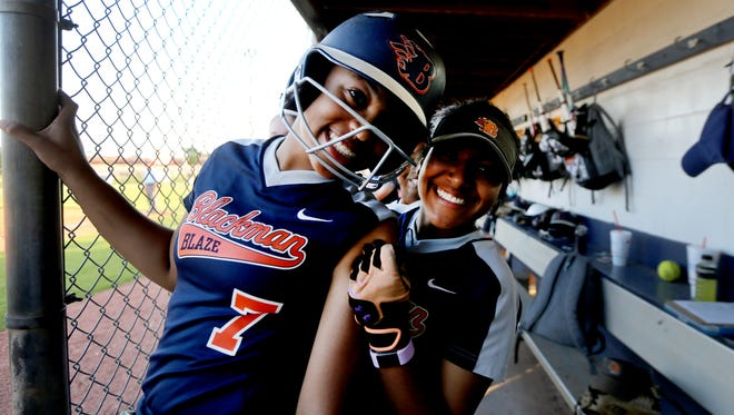Blackman incoming sophomore shortstop Kalei Harding (7) committed to Florida State on Thursday.