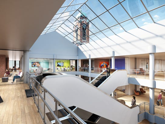 An artist's rendering shows how the office space is