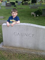 Ronald Gaunce's son visited his grave.