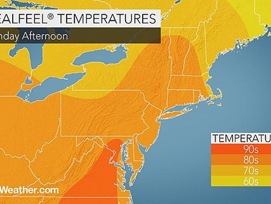 Temperatures will continue to be near 80 degrees today.