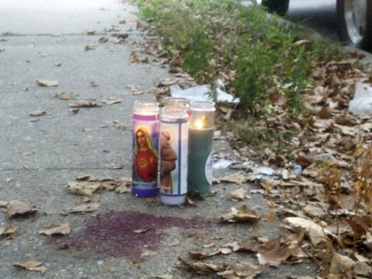 A memorial was created for Jordan Breeland shortly after his shooting death in York in 2013.