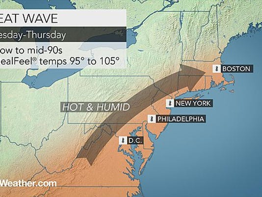 Temperatures are expected to be hot and humid this week.