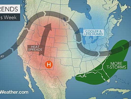 Cooler temperatures are expected the next few days.