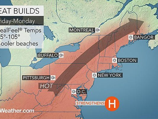 Sunny, humid weather today, Aug. 15, will start off our weekend.