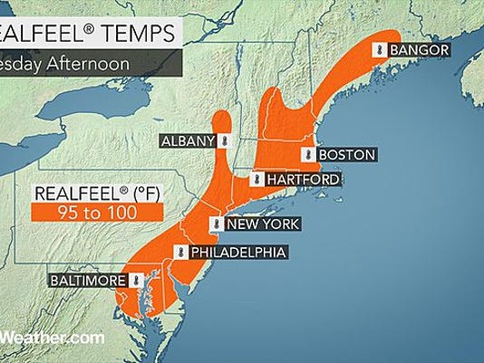 Temperatures will feel like the are nearing the 100-degree mark today.