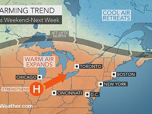 Appreciate this week's cool weather because temperatures warm up starting next week.
