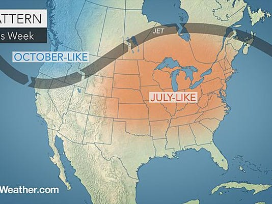 Temperatures are expected to be July-like through Labor Day Weekend.