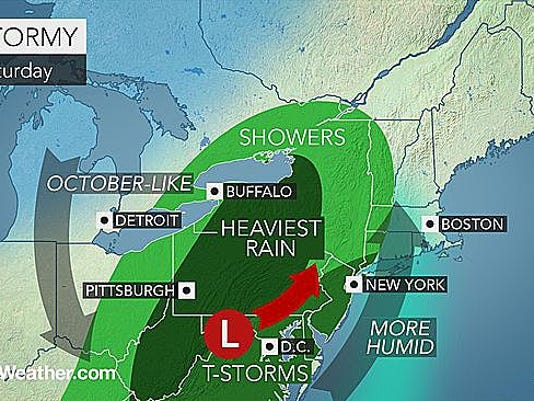 Rain is expected to hit our area sporadically throughout the day today.