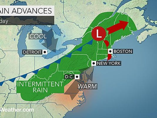 Rain is expected to hit the area starting on Friday.