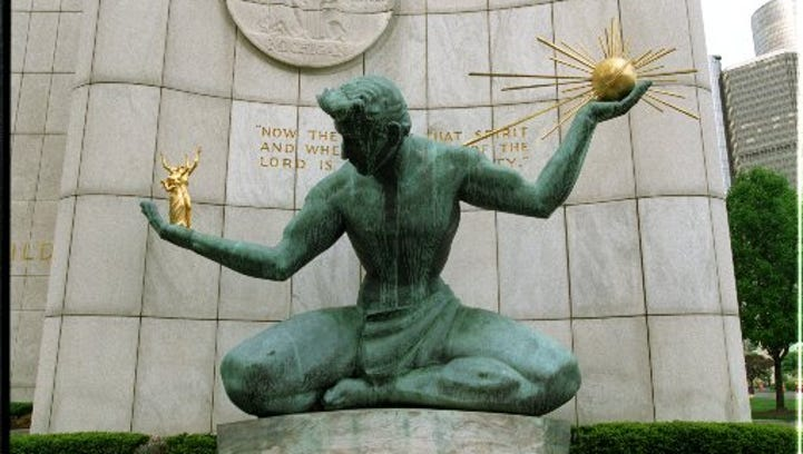 Detroit's bond rating improved following the end of