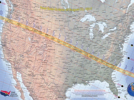 A total solar eclipse will occur only across the United