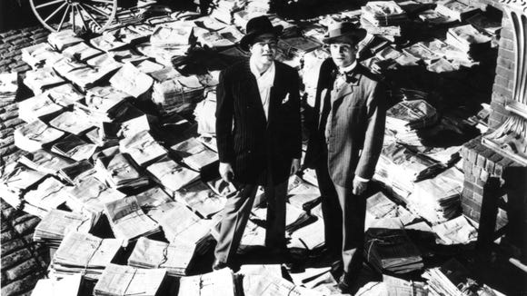 Orson Welles (left, with Joseph Cotten) is the powerful