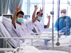 Boys, coach rescued from Thailand cave to be discharged from hospital Thursday
