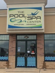 The Pool & Spa Center in Grand Chute was dark Wednesday