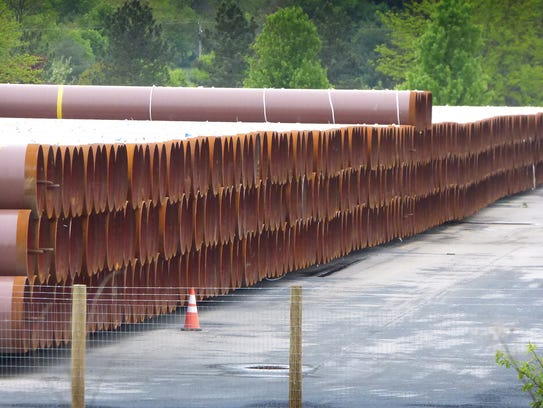 Williams is storing pipes at the former Alcoa plant