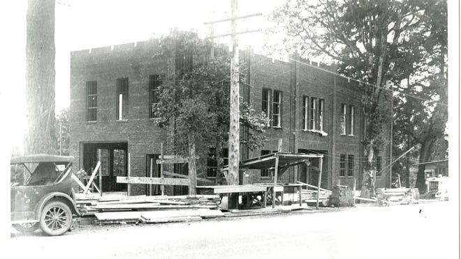West Salem City Hall is seen during construction in the 1930s. It opened in September 1936. WILLAMETTE HERITAGE CENTER 2004.010.0493