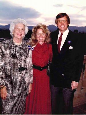 Barbara Bush, Vicki and Jim Click at the Westin La Paloma Resort & Spa.