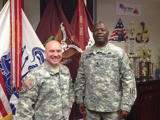 Col. Michael S. Heimall, left, and Command Sgt. Maj. Carl B. Dwyer Jr.  have led William Beaumont Army Medical Center. They oversee a staff of about 3,500, which serves more than 3,200 patients daily.