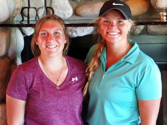 Virginia Gilton (left) and Megan Baumgartner combined