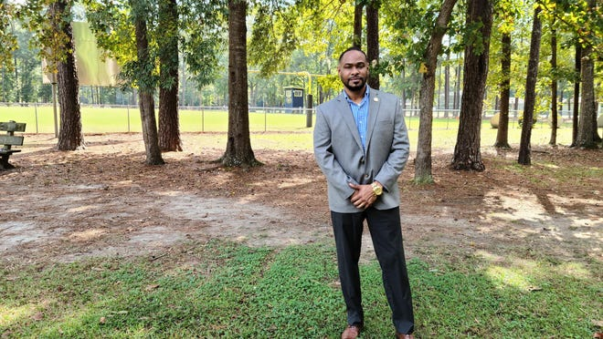 Bryan County Parks and Recreation Director Samose Mays at Henderson Park in Richmond Hill.