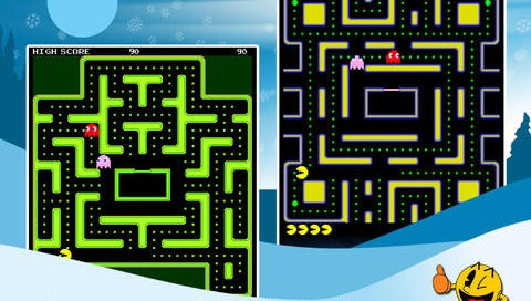 """A screenshot from """"Pac-Man."""""""
