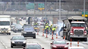 Emergency pothole repairs underway on area freeways