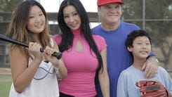 """Reality check: A TLC channel camera crew followed Pete, his fiancee Kiana Kim, and her two children to Cooperstown to tape him signing autographs during the 2012 Hall of Fame weekend for a new reality show """"Pete Rose: Hits & Mrs."""" TLC canceled it two weeks after the January 2013 premiere.  TLC's publicity photo for its """"Pete Rose: Hits & Mrs"""" reality show premiering Jan. 14 starring Pete Rose, fiancee Kiana Kim, and her two children, Cassie, 14, and Ashton, 11."""