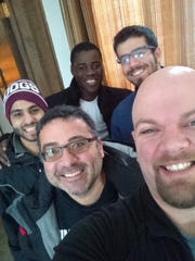 """One day, a Christian man walked into a mosque full of Muslims and this happened! I shook hands with almost everyone there, told them what #selfieswithmuslims is about, and they said """"thank you for standing with us and for what you are doing for our faith."""" I want to thank the Islamic Center of the Twin Ports for allowing me to come into their mosque and take photos with some of your wonderful members there! Terrorists are not Muslims and Muslims are not terrorists! Education is the only way to combat ignorance! Feel free to share any/all posts! If you know of someone who is Muslim and would be willing to take a selfie with me, have them get in touch with me please and I encourage others to take some as well. Be sure to hashtag it #selfieswithmuslims! #istandwithislam"""