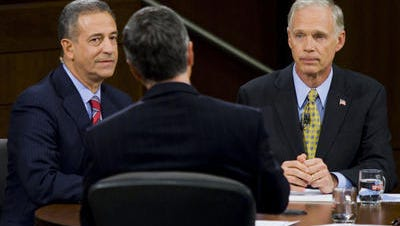 In a 2010 debate with now-Sen. Ron Johnson, R-Wisc. Campaign-reform messiah Russ Feingold (left) wants his Senate job back, and will spend all the PAC money on himself and staff that he has to spend to get it