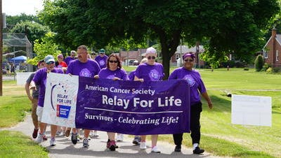 Cancer survivors took the first lap around Claude Allison Park during a 2016 Relay For Life event.
