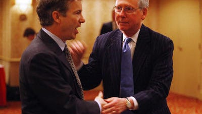 Rand Paul and Mitch McConnell