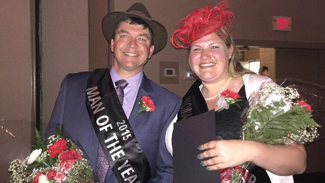 Craig Murray and Claire Harmer celebrate being named Man and Woman of the Year by Delaware chapter of The Leukemia & Lymphoma Society