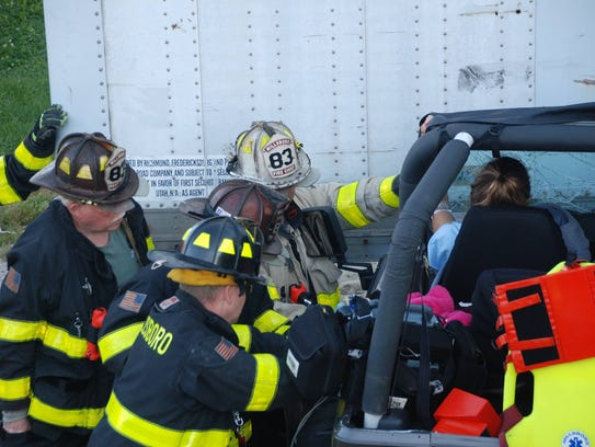The Millsboro Fire Company and other responders extract